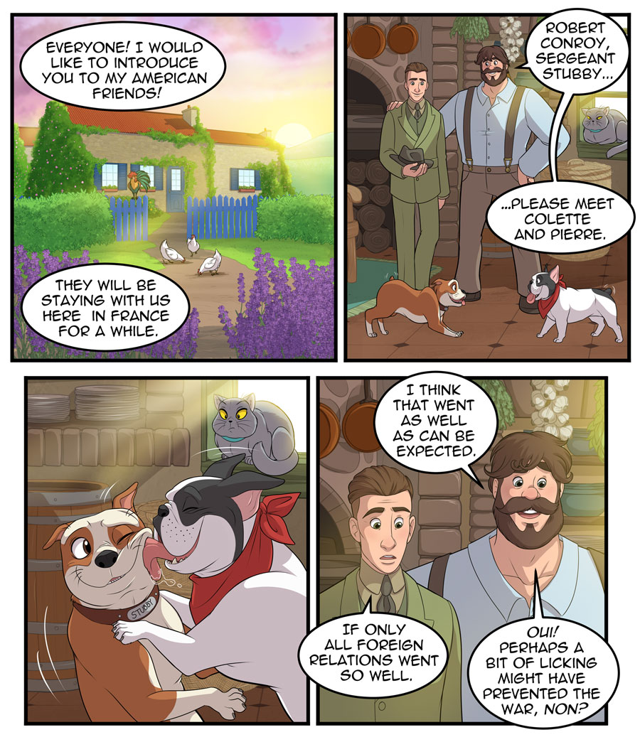 Stubby and Friends Comic Week 1 Page 1