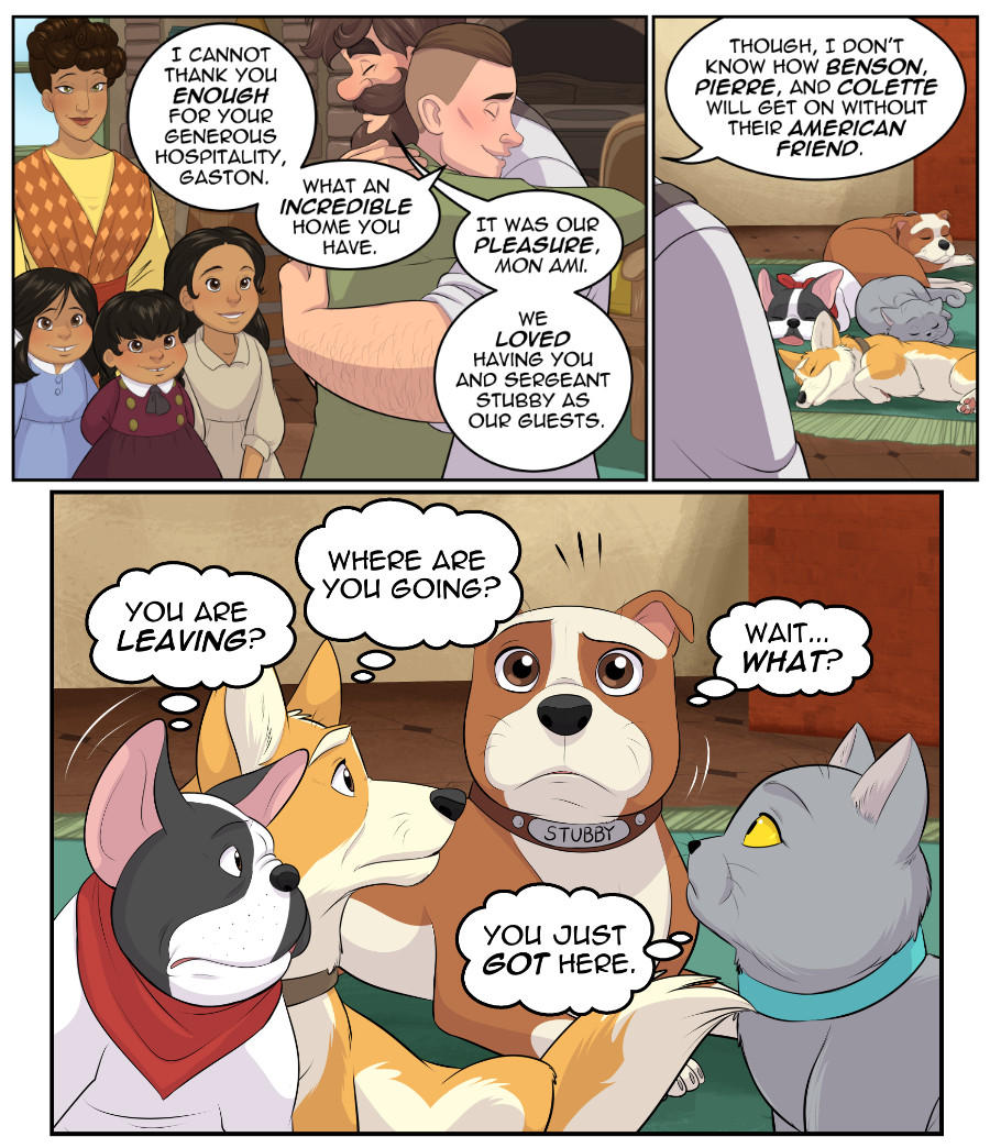 Stubby and Friends Comic Week 10 Page 1