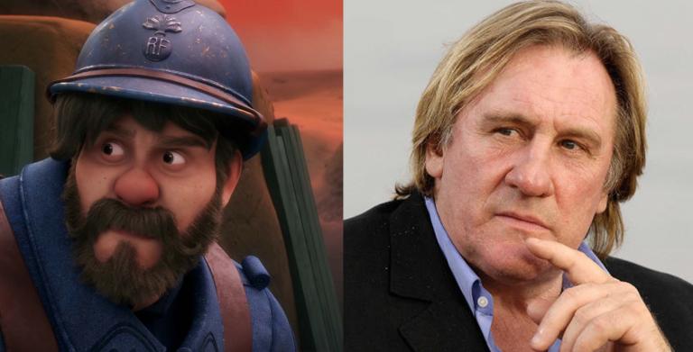 Gerard Depardieu as Gaston Baptiste from Sgt. Stubby