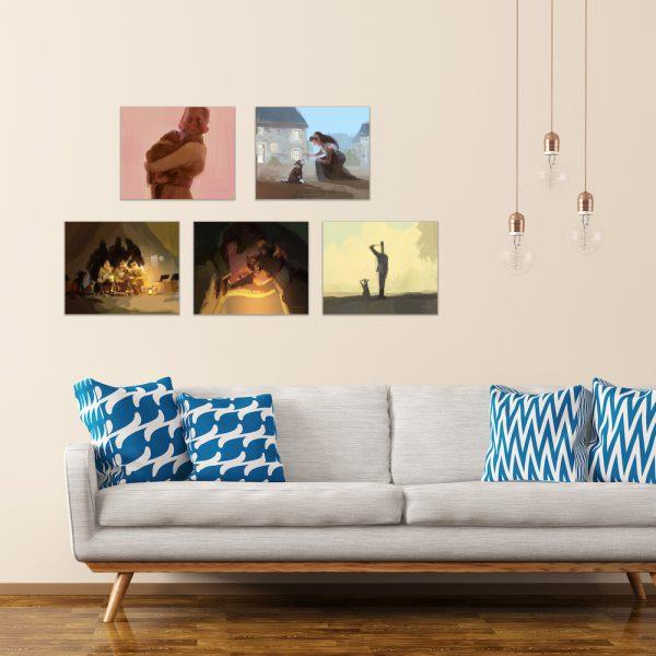 Stubby Movie Concept Art On Wall
