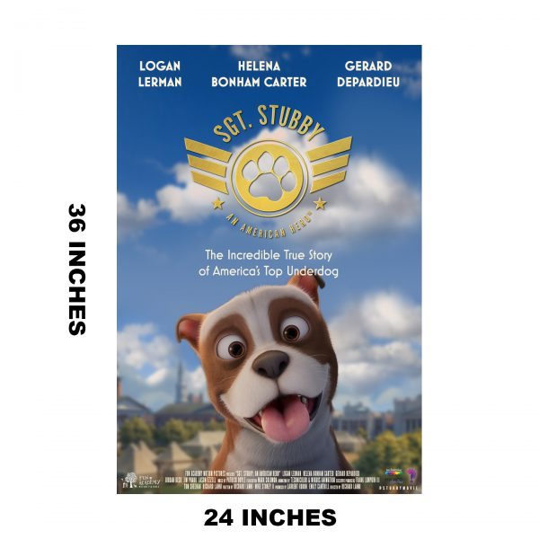 Sgt. Stubby Movie Poster with Dimensions